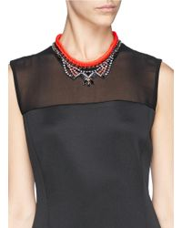 Joomi Lim | Metallic 'rebel Romance' Cotton Braid Crystal Chain Necklace | Lyst