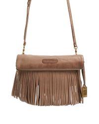 Frye | Gray 'heidi' Fringed Leather Crossbody Bag | Lyst