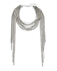 ABS By Allen Schwartz | Metallic Tassel Statement Necklace, 16"