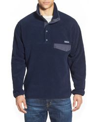 Patagonia | Blue 'synchilla Snap-t' Fleece Pullover for Men | Lyst