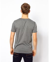 ASOS | White Stripe Tshirt with Skull Pattern for Men | Lyst