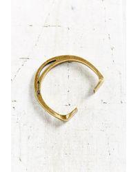 Giles & Brother | Metallic Stirrup Brass Cuff Bracelet | Lyst