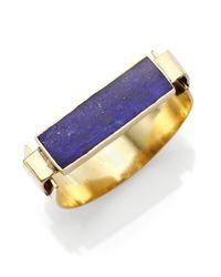 Aesa | Blue Little Reeve Lapis Cuff Bracelet | Lyst