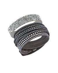Swarovski | Gray Leisure Wrap Bracelet Set | Lyst