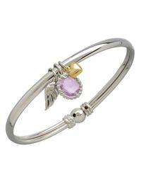 Lord & Taylor | Pink 14k Yellow Gold Sterling Silver And Amethyst Bracelet | Lyst