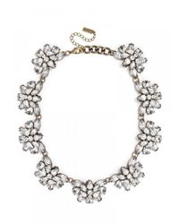 BaubleBar - White Crystal Flutter Collar-clear - Lyst