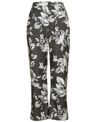 TOPSHOP | Blue Geo-Rose Print Slim Flares By Boutique | Lyst