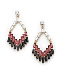ABS By Allen Schwartz | Black Box Of Jewels Mixed Baguette Chandelier Earrings | Lyst