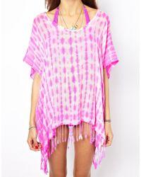 Seafolly | Pink Oasis Mini Me Byron Kaftan | Lyst