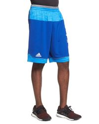 Adidas | Blue 'future Star' Basketball Shorts for Men | Lyst