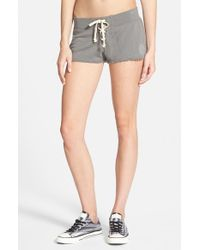 Rip Curl | Gray 'simply Surf' Fleece Shorts | Lyst