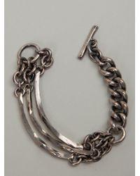 Tobias Wistisen   Metallic Chunky Chain Bracelet for Men   Lyst