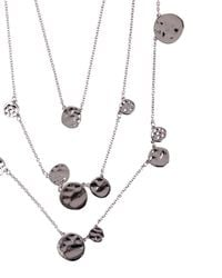 Jaeger | Metallic Hammered Disc Necklace | Lyst