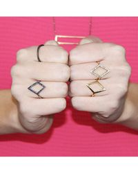 Adornia | Pink 14K Rose Gold Lautrec Ring | Lyst
