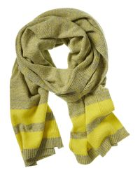 Banana Republic | Yellow Textured Stitch Scarf | Lyst