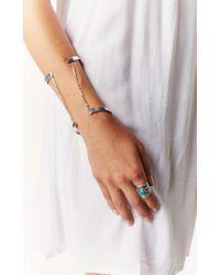 Vanessa Mooney | Metallic The Riot Double Cuff Silver Bracelet | Lyst