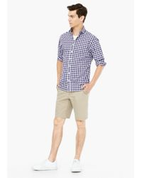 Mango - Purple Slim-fit Gingham Check Shirt for Men - Lyst
