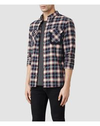 AllSaints - Blue Gram Shirt for Men - Lyst