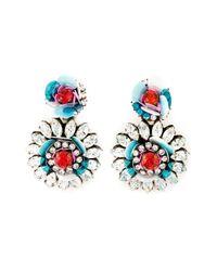 Shourouk | Blue Flower Clip-on Earrings | Lyst