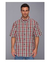 Carhartt - Red Essential Plaid Botton Down Ss Shirt for Men - Lyst