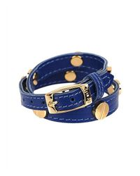 CC SKYE | Blue The Signature Screw Bracelet Double Wrap In Gold | Lyst