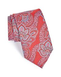 Ermenegildo Zegna - Red Floral Silk Tie for Men - Lyst