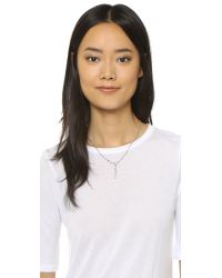 Vanessa Mooney - Metallic The Thrill Rosary Necklace - Silver - Lyst