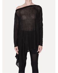 Lost & Found - Black Square Top - Lyst