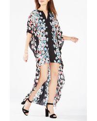 BCBGMAXAZRIA | Black Dameka Floral Print High-low Dress | Lyst