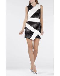BCBGMAXAZRIA | White Dalia Sleeveless Asymmetrical Skirt Dress | Lyst