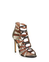 BCBGMAXAZRIA - Multicolor Bcbg Valentia Python Leather Sandals - Lyst