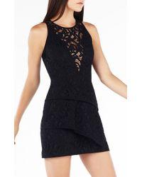 BCBGMAXAZRIA - Black Hanah Scroll Lace Dress - Lyst