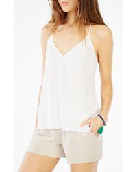 BCBGMAXAZRIA - Multicolor Maleah Pleated Jersey Short - Lyst