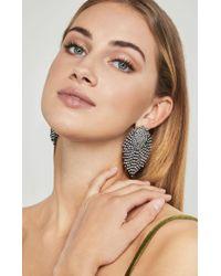 BCBGMAXAZRIA - White Stone Earrings - Lyst