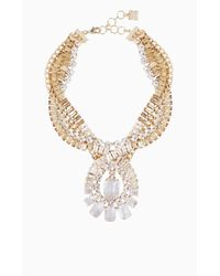 BCBGMAXAZRIA | Metallic Twisted Stone Statement Necklace | Lyst