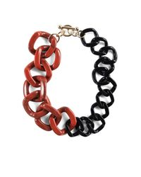 BCBGMAXAZRIA | Red Resin Chain-link Necklace | Lyst