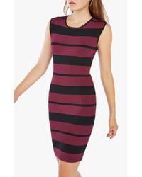 BCBGMAXAZRIA - Multicolor Striped Body-con Dress - Lyst