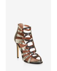BCBGMAXAZRIA | Multicolor Valentia Python Leather Sandals | Lyst