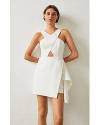 BCBGMAXAZRIA - White Qyun Cutout Dress - Lyst