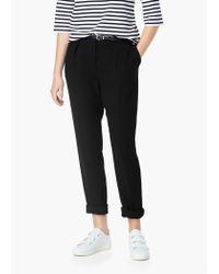 Mango - Black Belt Straight-fit Trousers - Lyst