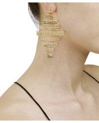 Arme De L'Amour | Metallic Stripe Earrings | Lyst