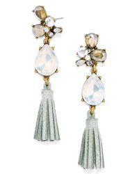 BaubleBar | Metallic 'moondance' Drop Earrings - Crystal/ Antique Gold | Lyst