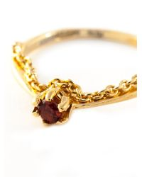 Puro Iosselliani - Metallic Garnet Chain Ring - Lyst