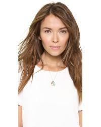 Melinda Maria - Metallic Goddess Of Good Fortune Necklace Gold Multi - Lyst
