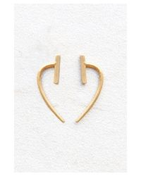 Chan Luu | Metallic Gold Bar And Hook Earrings | Lyst