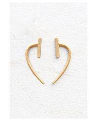 Chan Luu   Metallic Gold Bar And Hook Earrings   Lyst