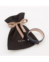 Paul Smith | Blue Women's Navy Leather Bracelet | Lyst