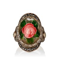 Sevan Biçakci - Green Rose Intaglio Ring - Lyst
