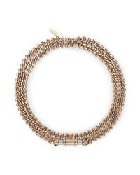 Givenchy - Metallic 'obsedia' Bar Curb Chain Collar Necklace - Lyst