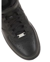 Nike | Black Air Force 1 Mid Top Sneakers for Men | Lyst